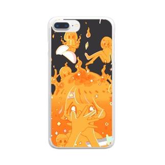 キャンプ荼毘Tシャツ Clear smartphone cases