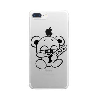 推しクマくん Clear smartphone cases