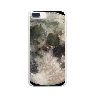 """the MOON / 愛と幸運の星"" Clear smartphone cases"