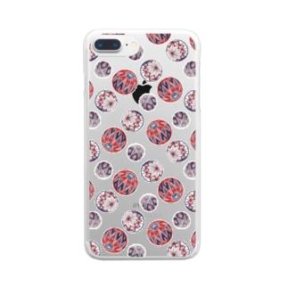 【日本レトロ#02】手まり(パターン) Clear smartphone cases