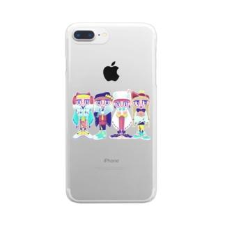 イノシシ四人衆 Clear smartphone cases