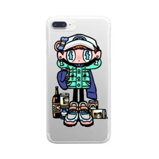 アル中 Clear smartphone cases