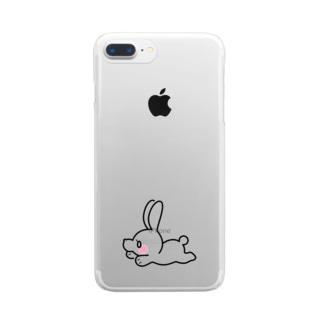べりうささん Clear smartphone cases