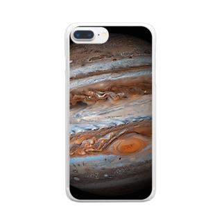"""""""the JUPITER / 成功と発展の星"""" Clear smartphone cases"""