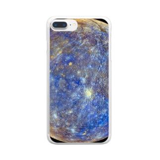 """the MERCURY / 知性と交流の星"" Clear smartphone cases"