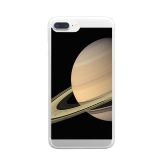 """the SATURN / 試練と成長の星"" Clear smartphone cases"