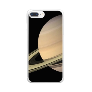 """""""the SATURN / 試練と成長の星"""" Clear smartphone cases"""