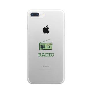 ラヂオ Clear smartphone cases