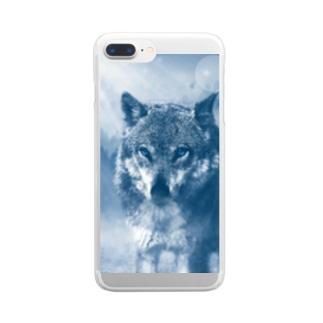 ウルフカット Clear smartphone cases