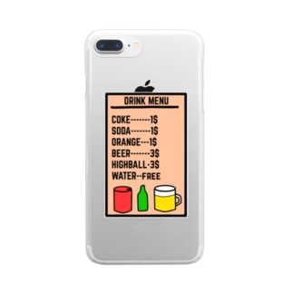 DRINK TONIGHT Clear smartphone cases