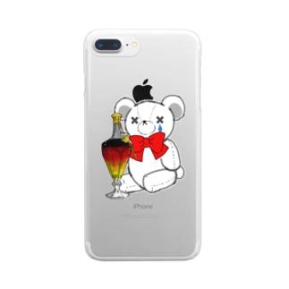 CEのSAKEくま ロイヤル バカラ Clear smartphone cases