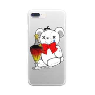 SAKEくま ロイヤル バカラ Clear smartphone cases