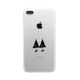 こうもり傘小僧ツヴァイ Clear smartphone cases