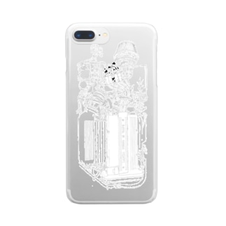 LANCIA DELTA ENGINE(WH) Clear smartphone cases