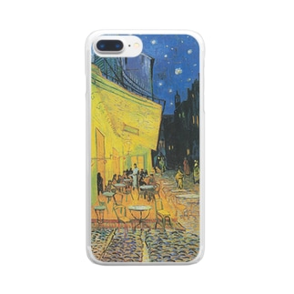 ゴッホ / 夜のカフェテラス / 1888 / Terrasse du café le soir Clear smartphone cases