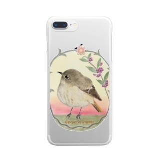 レディジョウビタキさん Clear smartphone cases