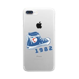 1982スニーカー1 Clear smartphone cases