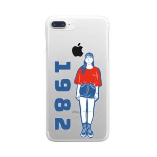1982ガール2 Clear smartphone cases