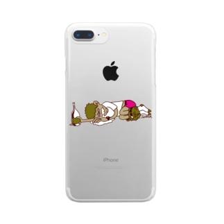 飲杉多(のみすぎた)くん Clear smartphone cases