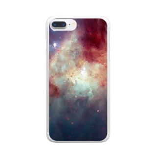 """MEMORIES:1|夕焼けに染まる,海と空を君に"" Clear smartphone cases"
