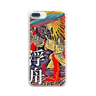 浮舟 天地開闢記念 岩戸開き(開運)グッズ Clear smartphone cases