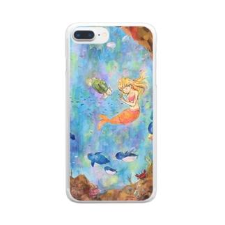 宇宙水族館 Clear smartphone cases