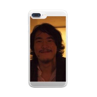 男の自画像 Clear smartphone cases