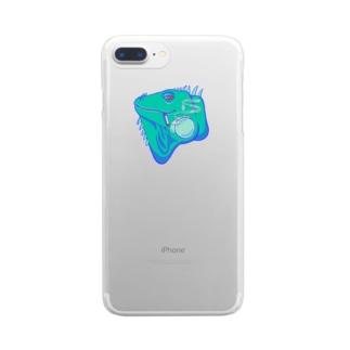 タバコイグアナ Clear smartphone cases