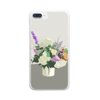 初夏のお花 Clear smartphone cases