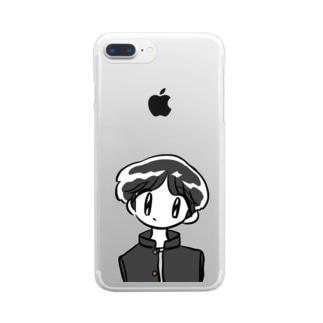 秀才くん Clear smartphone cases