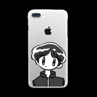ウマハマshopの秀才くん Clear smartphone cases