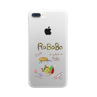 ROBOBO ウロコインコ「コウちゃんロボ」 Clear smartphone cases