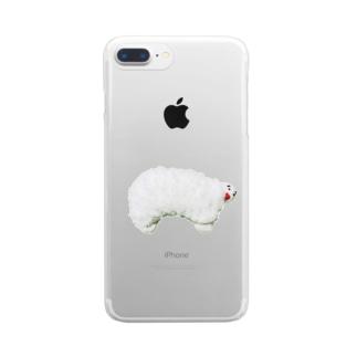 白いひつじ Clear smartphone cases