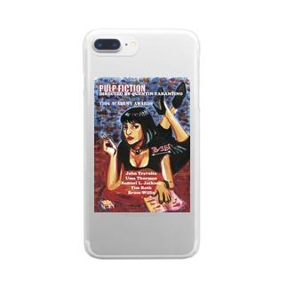 パルプフィクション Clear smartphone cases