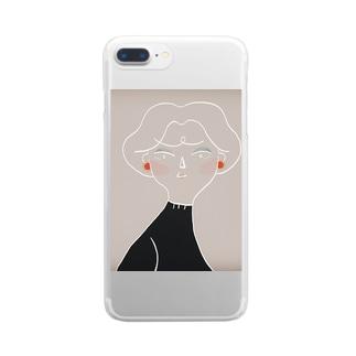 優しくて美しい Clear smartphone cases