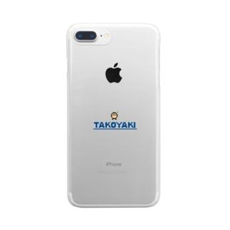 たべっこピクセルNo.003 たこやき Clear smartphone cases