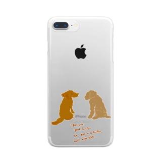 バジルとオレガノ Clear smartphone cases