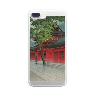 「山王之雨後」 Clear smartphone cases
