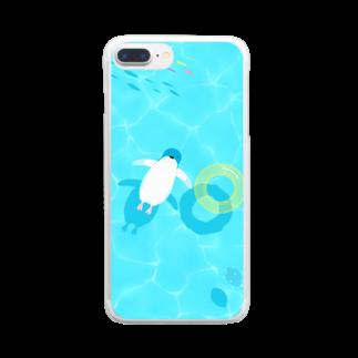 Penguinのぷかぷかペンギン Clear smartphone cases
