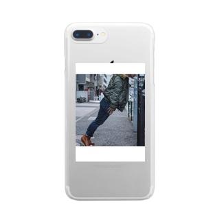 この角度で吸うと美味いらしい Clear smartphone cases