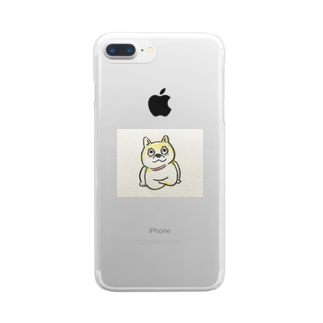 mitsuki.🥫のアナウンサー座りの柴犬 Clear smartphone cases