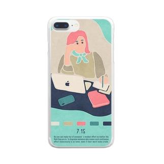 【2019.07.15】新井リオの英語日記グッズ Clear smartphone cases