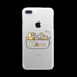 ゆゆ丸のはな◎ Clear smartphone cases