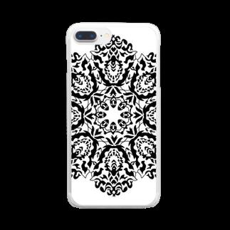 Smile Leafのまんだらアート004 Clear smartphone cases