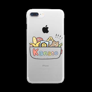 ゆゆ丸のかなと◎ Clear smartphone cases