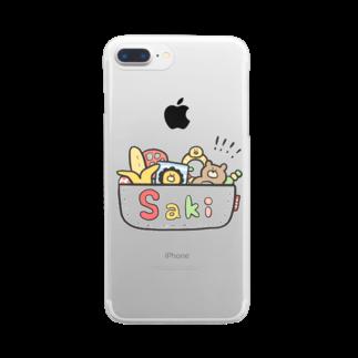 ゆゆ丸のさき◎ Clear smartphone cases