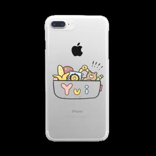 ゆゆ丸のゆい◎ Clear smartphone cases