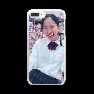 いときちの変顔のるんちゃん Clear smartphone cases