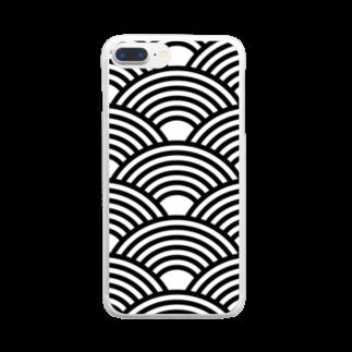 kagura9のSEIGAIHA01(モノクロ) Clear smartphone cases