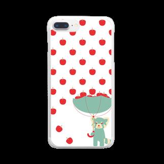 きゃべつ日和のりんご雨レッサーパンダ Clear smartphone cases